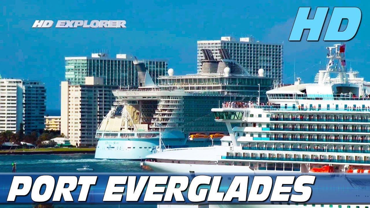 Fort Lauderdale Port >> Cruise Ships Leaving Port Everglades Fort Lauderdale Part 2