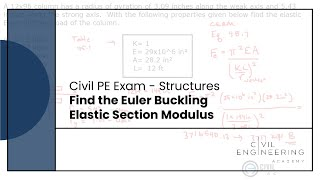 Structures - Find the Euler Buckling Elastic Section Modulus