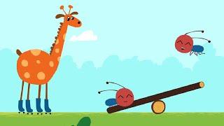 Развивающие мультики для детей малышей – Удивительная стройка - Сложение - Учимся складывать числа