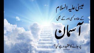 کیا حضرت عیسٰیؑ کے علاوہ کسی اور نبی کے آسمان پر جانے کا عقیدہ بھی ملتا ہے؟