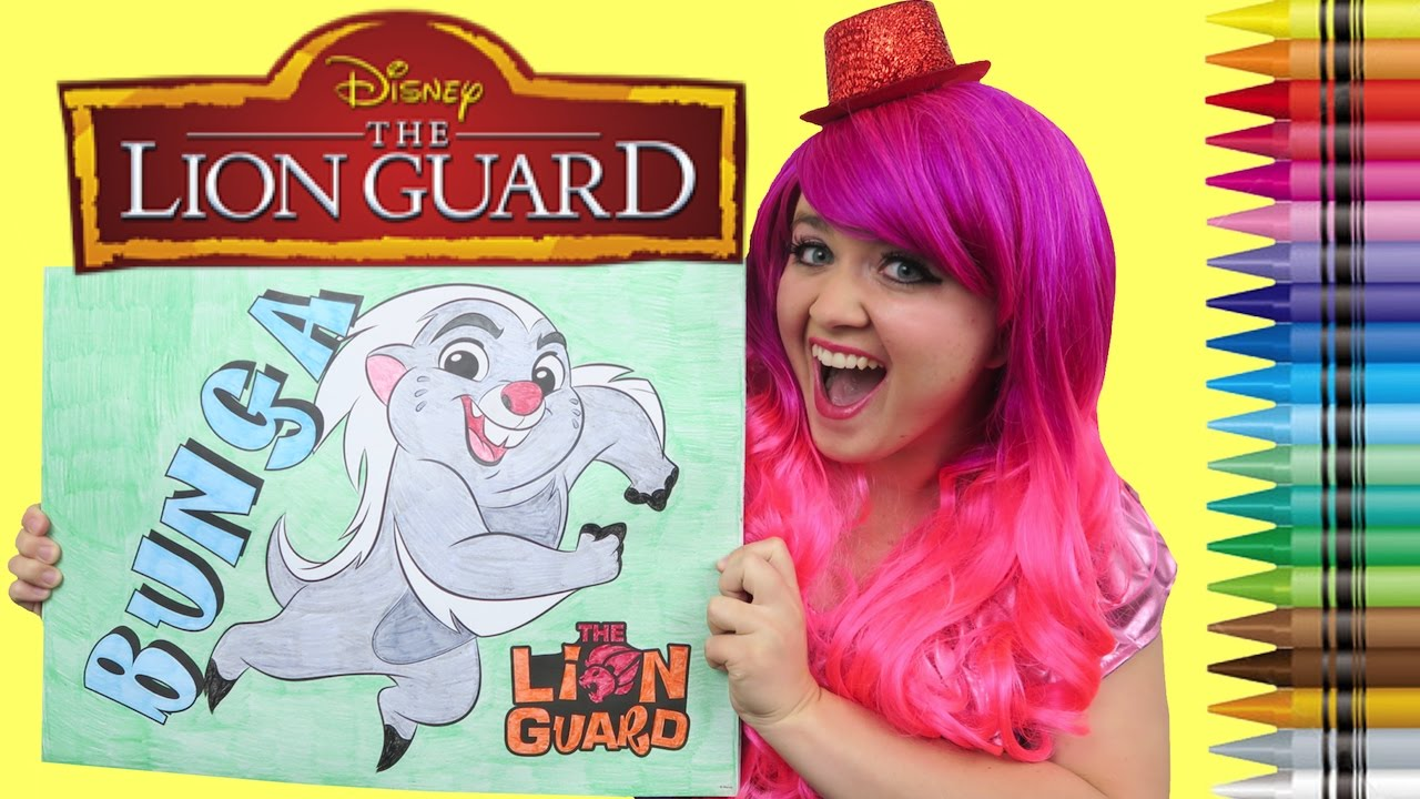 Coloring Bunga The Lion Guard GIANT Coloring Book Page Crayola ...