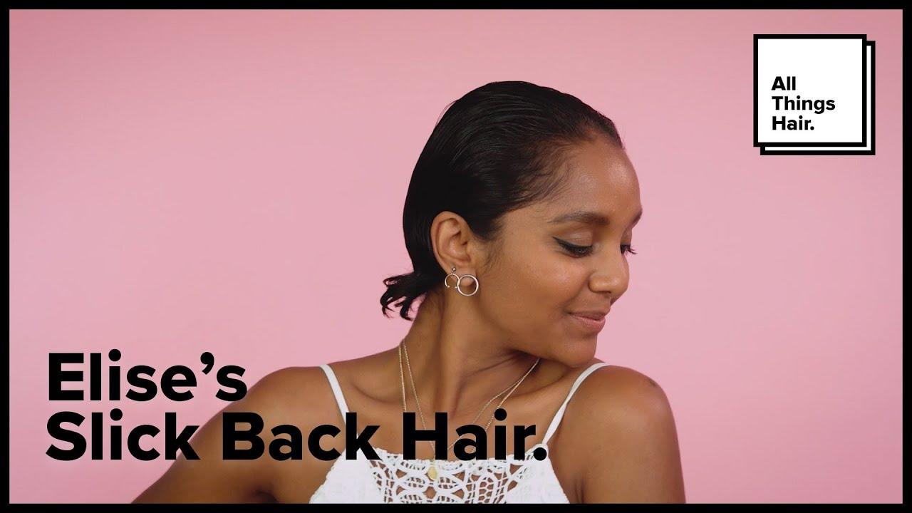 Slick Back Hair Tutorial For Women All Things Hair Youtube