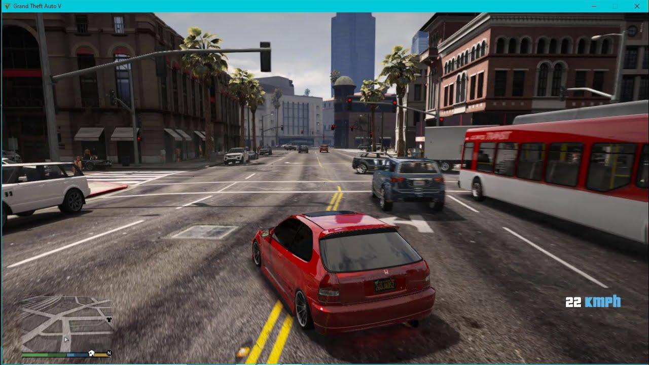 GTA 6 GRAFİKLERİYLE OYNADIM!! Gta V Honda Civic Modu Nasıl Yapılır? [    Oyun Çöktü :(    ]