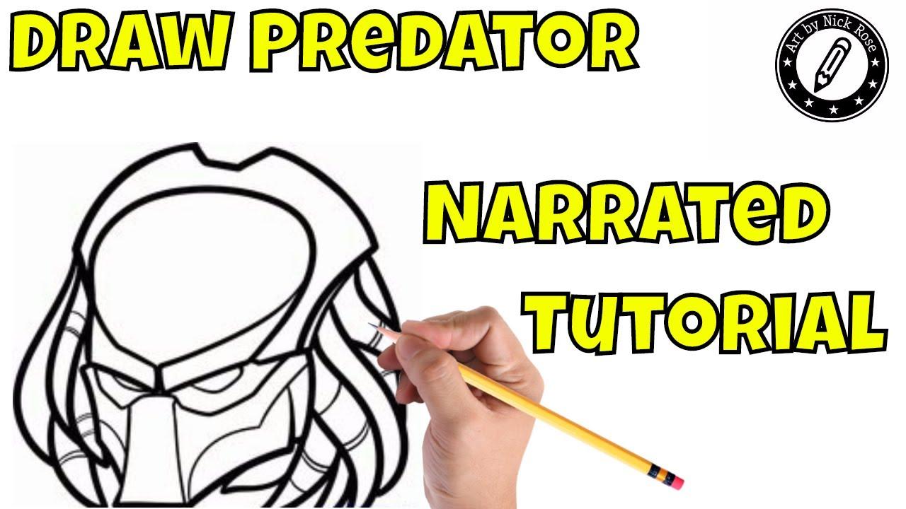 Draw The Predator Maskhow To Draw The Predatornarrated Tutorial