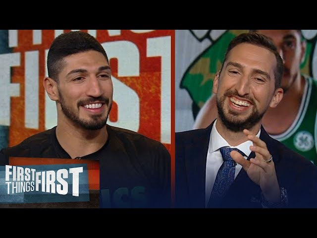 Enes Kanter talks joining Celtics, Westbrook and teases Nicks hair | NBA | FIRST THINGS FIRST