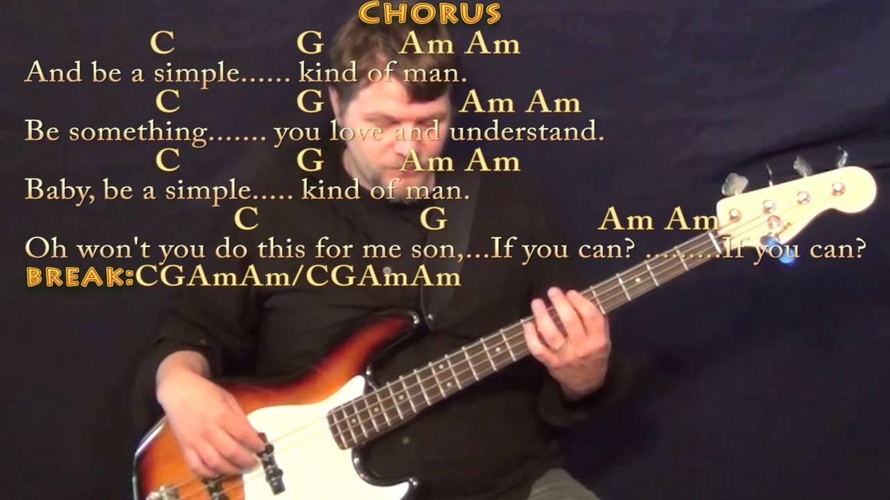 Simple Man Lynyrd Skynyrd Bass Guitar Cover Lesson With Chords