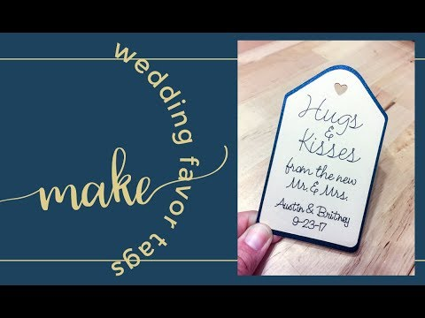 How To Make 200 Wedding Favor Tags In Cricut Design Space For