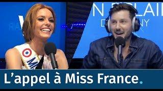 Maxime Guény  et Kelly Vedovelli appellent Miss France en direct !