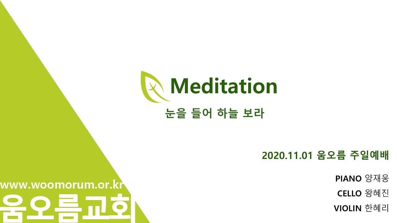 2020.11.01 MEDITATION_눈을 들어 하늘 보라