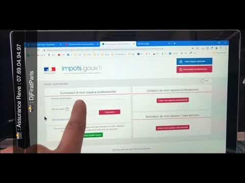 Code activation impot gouv messagerie service en ligne [ tuto 1 Site impot.gouv impôt Pro ]