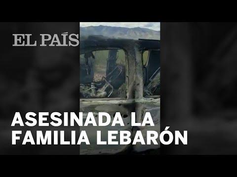 El vehículo quemado de la familia del activista mexicano Julián LeBarón