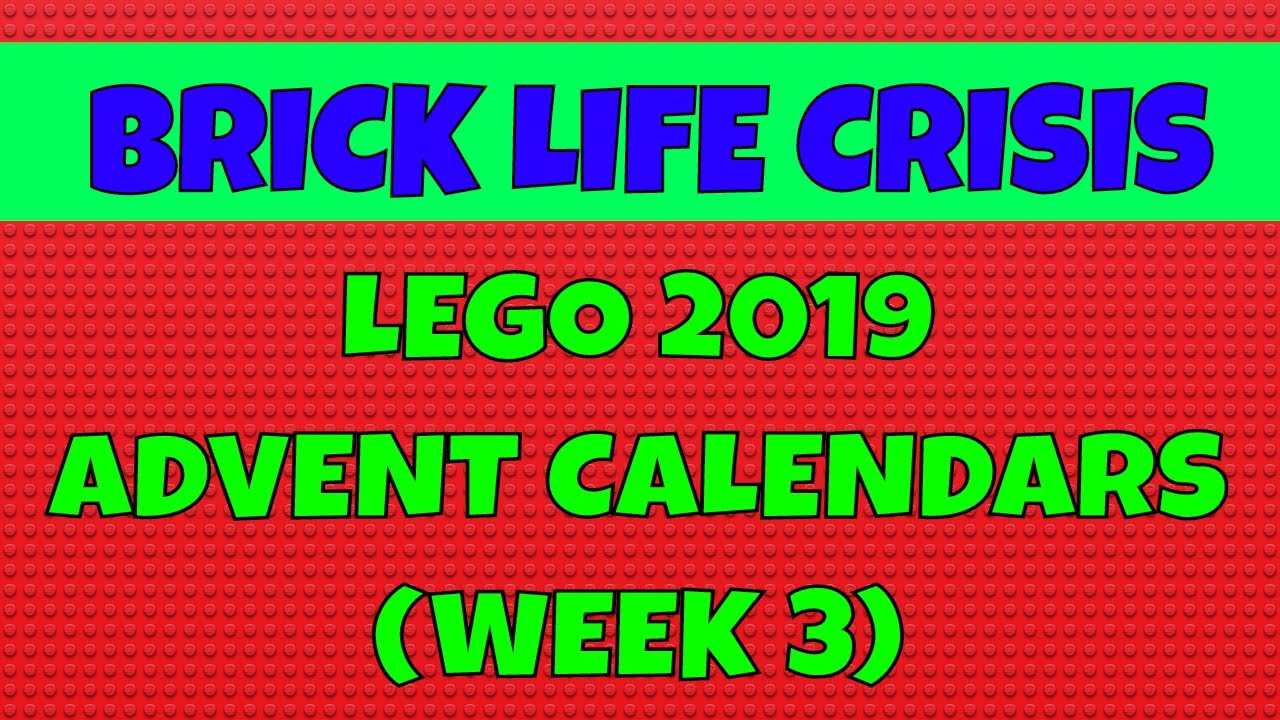 lego 2019 advent calendars week 3 youtube. Black Bedroom Furniture Sets. Home Design Ideas