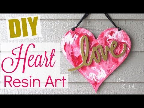 DIY Heart Resin Art | Valentine's Day Crafts | Craft Klatch