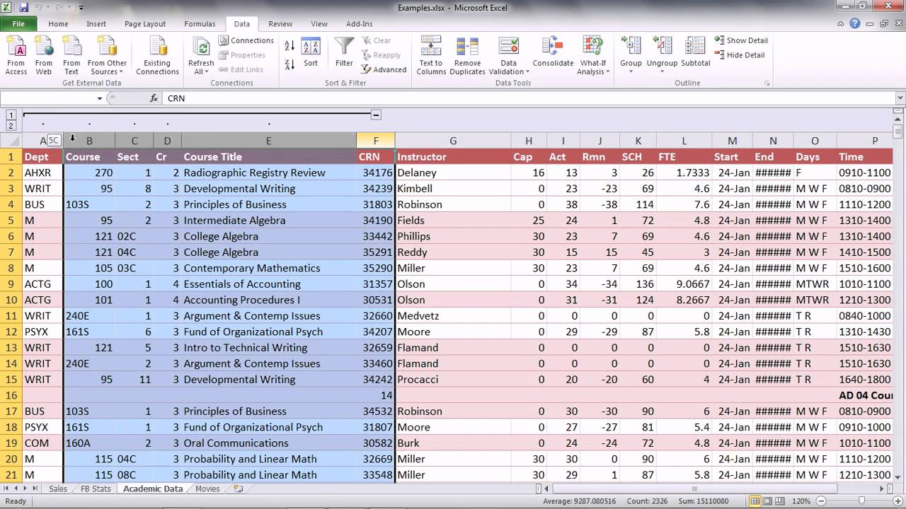 excel 2010 ch  5 grouping  u0026 subtotals ii