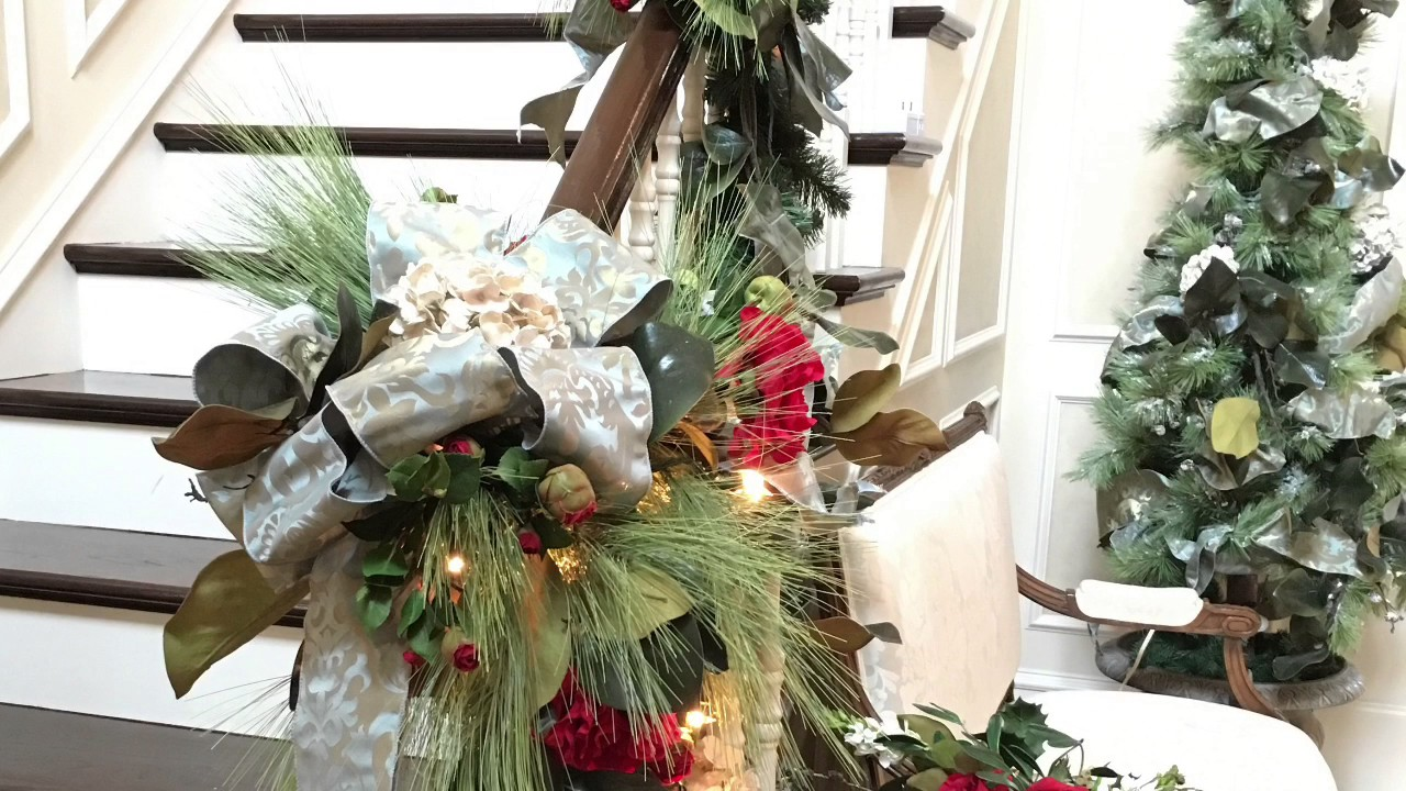 rebecca robeson inspired 2018 christmas garlands and stairways decorated for christmas - Robeson Design Christmas