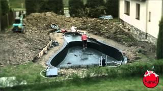 How build garden pond - tutorial Jezirka Banat