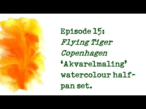 Product Review 15 - Flying Tiger Copenhagen 'Akvarelmaling' watercolour set