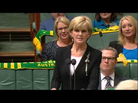 Julie Bishop grilled in Parliament over her role in leadership plot