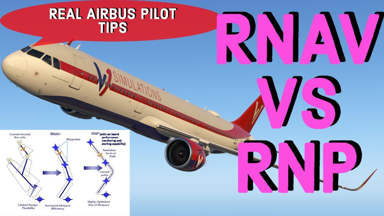 RNAV/GPS vs RNP | REAL Airbus PILOT | What is the difference? How to fly RNAV approaches