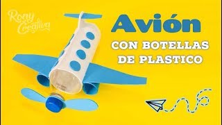 How to make airplane from Bottle / cómo hacer un avión con botella de plástico