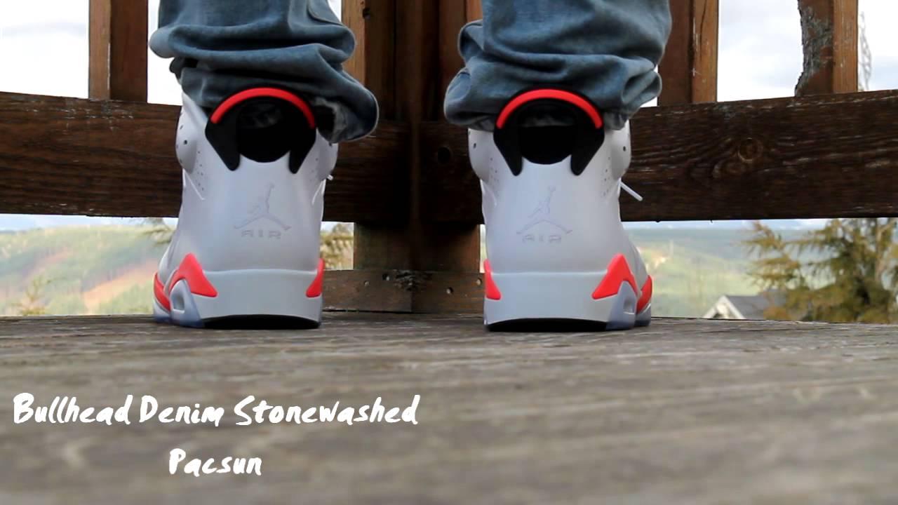 2014 Air Jordan 6 Infrared On Foot - YouTube