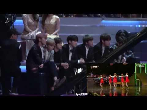 161202 BTS(방탄소년단) reaction to GFRIEND(여자친구) - NAVILLERA @MAMA