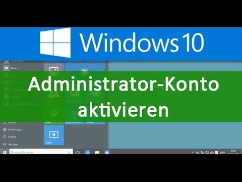 Administrator Konto unter Windows Aktiviere/deaktivieren