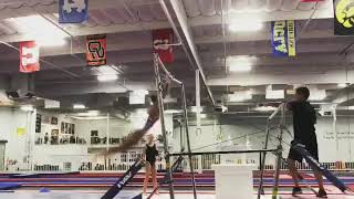 3/4 routine on bars. training clip 10/8/18
