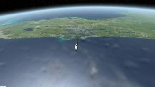 launch satellite into orbit simulation (crude)