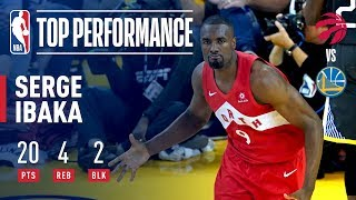 Serge Serge Ibaka Goes For 20 Points Off The Bench In Game 4 | 2019 NBA Finals