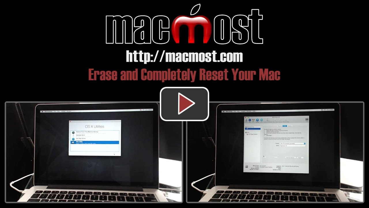Erase and Completely Reset Your Mac