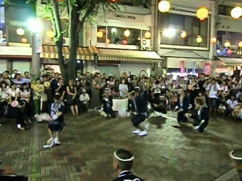 阿波踊り「獅子夏舞連」豪快な男性の男踊りと和太鼓のリズム