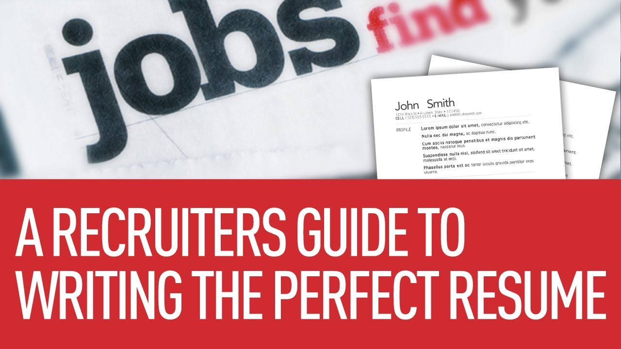 9 Tips For Writing The Perfect Resume YouTube