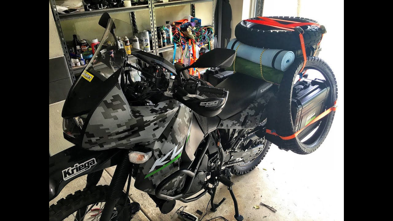 Klr 650 2016 Camo Modifications And Luggage Update