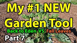 Back to Eden Organic Gardening 101 Method with Wood Chips VS Leaves Composting Garden Series  # 7