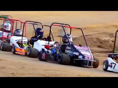 Rage Reunion Race I-70/I-77 Speedway 8/25/18 Heat race #2 #champkarts #burristires