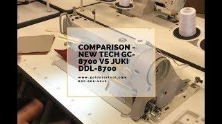 Comparison - New Tech GC-8700 VS Juki DL--8700 - Goldstartool.com - 800-868-4419