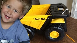 tonka toughest mighty dump truck kid play