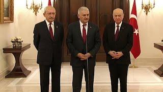 Binali Yıldırım,  Kemal Kılıçdaroğlu ve Devlet Bahçeli ortak açıklama yaptı