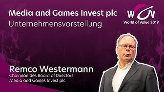 Remco Westermann   Media and Games Invest plc   World of Value 2019