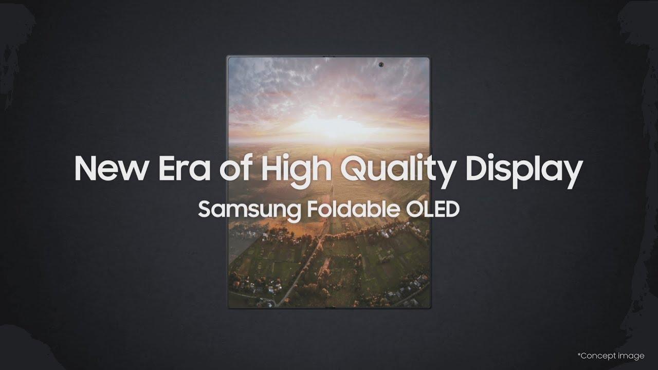 Samsung Display Foldable OLED: Future OLED