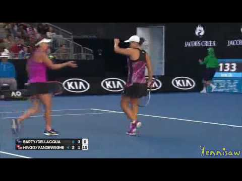 Ashleigh Barty & Casey Dellacqua vs Martina Hingis & Coco Vandeweghe 2017 Australian Open WD R2 High