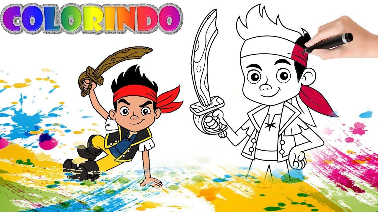 Colorir Desenho Do Capitao Jake E Os Piratas Da Terra Do Nunca
