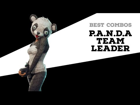 Best Combos | P.A.N.D.A Team Leader | Fortnite Skin Review