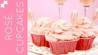How To Make Rosé Pink Champagne Cupcakes // Lindsay Ann Bakes