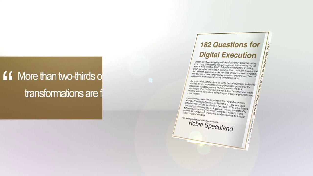 182 Questions for Digital Execution launch