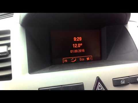 активация БК Opel Astra H и Zafira B