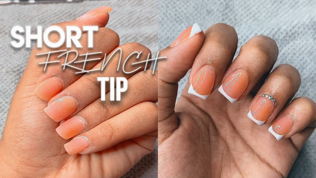 SHORT FRENCH TIP NAILS W/ POLY GEL