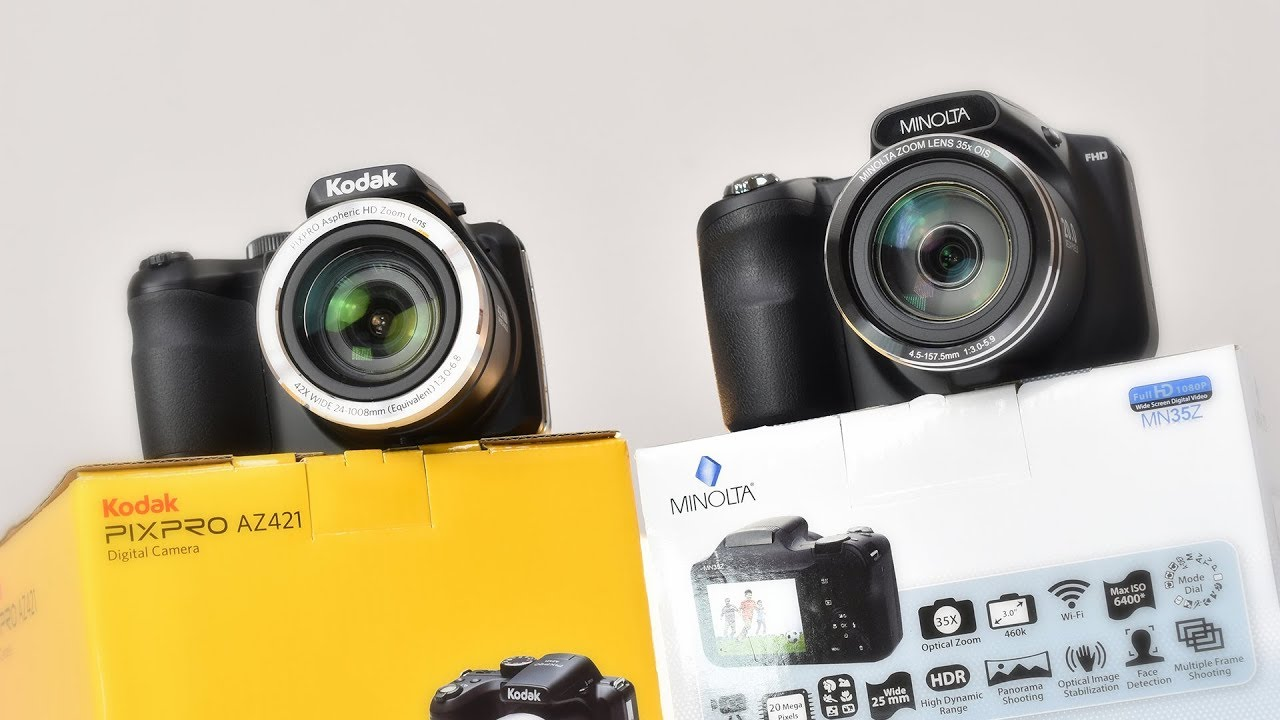 Cheap Superzoom Camera Comparison - Kodak AZ421 vs Minolta MN35Z