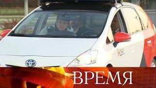 Дмитрий Медведев прокатился на беспилотном автомобиле.